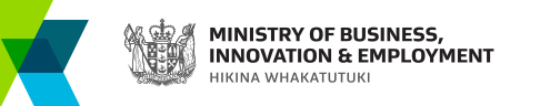 Ministry of Business, Innovation and Employment (MBIE) Logo